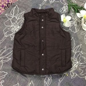Baby Gap 12-18 Months Brown Snap Puffer Vest
